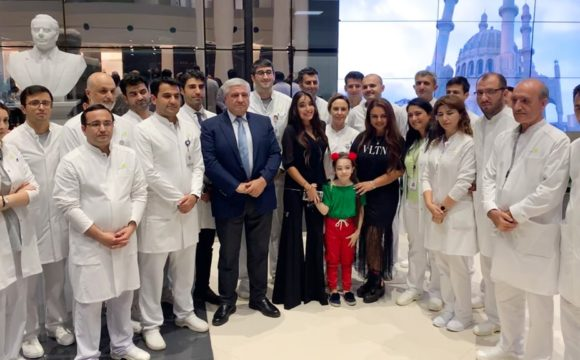 Vice President of the Heydar Aliyev Foundation Leyla Aliyeva met with children with the support of the Foundation at the Bona Dea International Hospital in Baku on September 13.